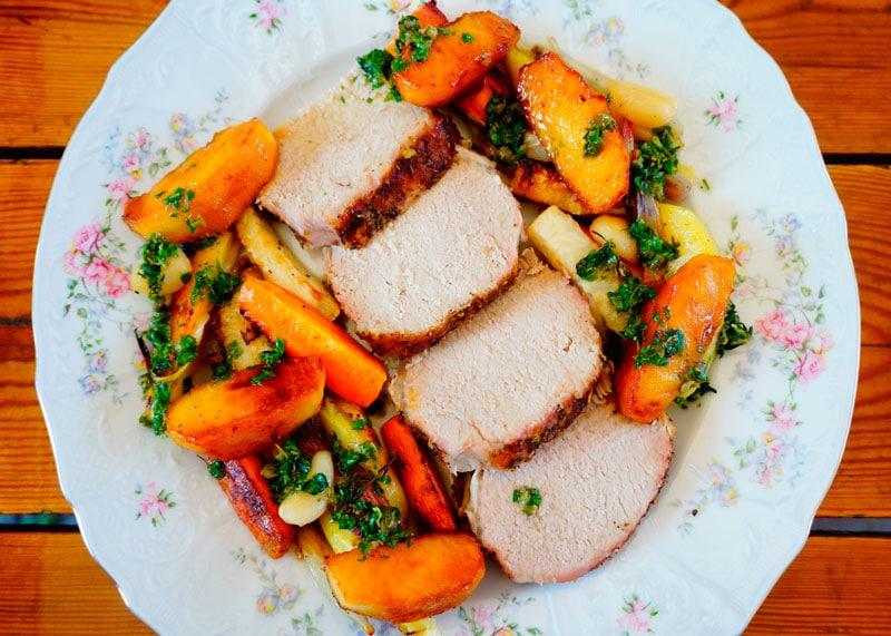 Жаркое из свинины и корнеплодов приготовление фото