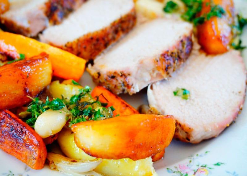 Жаркое из свинины и корнеплодов рецепт фото