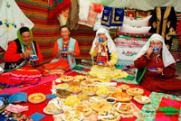 Крымские татары за столом фото
