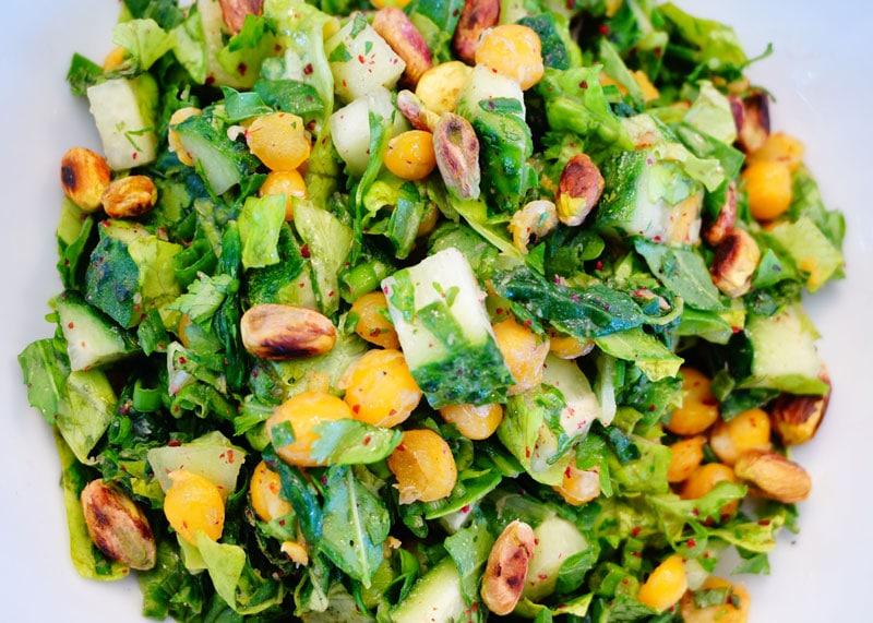 Левантийский салат из огурцов фото