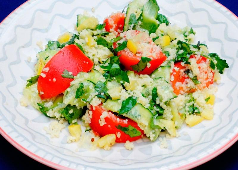 Магрибский салат из кус-куса рецепт фото
