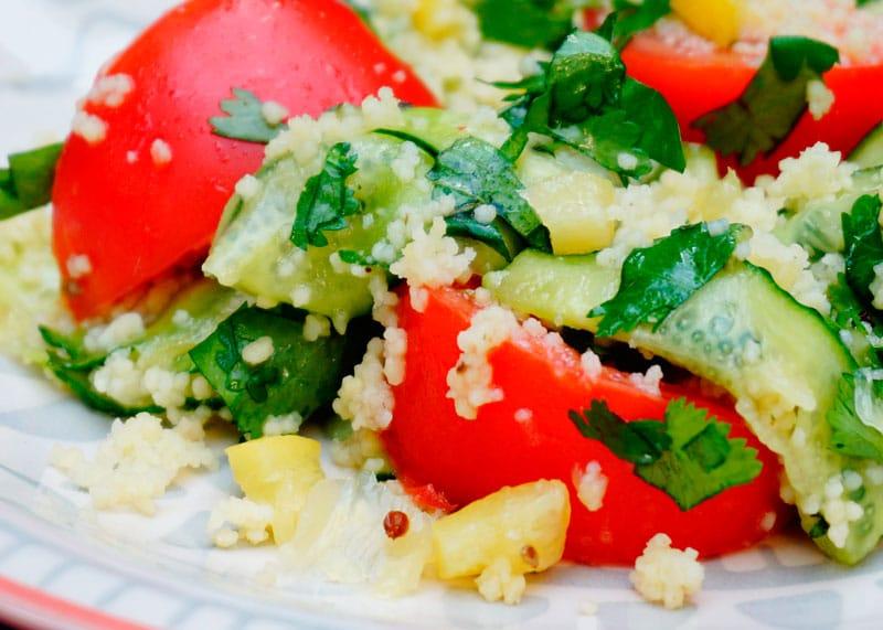 Магрибский салат из кус-куса фото