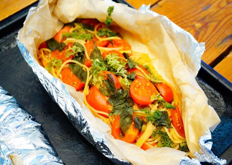 Спагетти аль карточчо приготовление фото