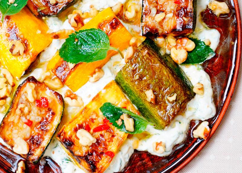 Цуккини с грецкими орехами фото