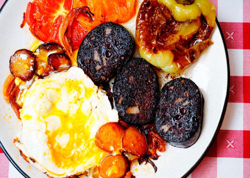 Яичница с картофелем рецепт фото