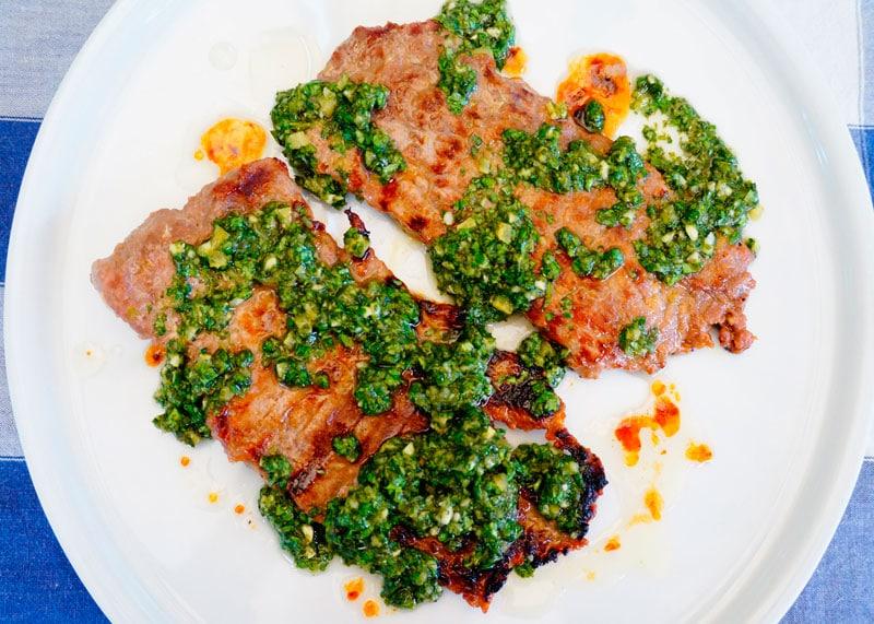 Жареный стейк из говяжьей пашины рецепт фото
