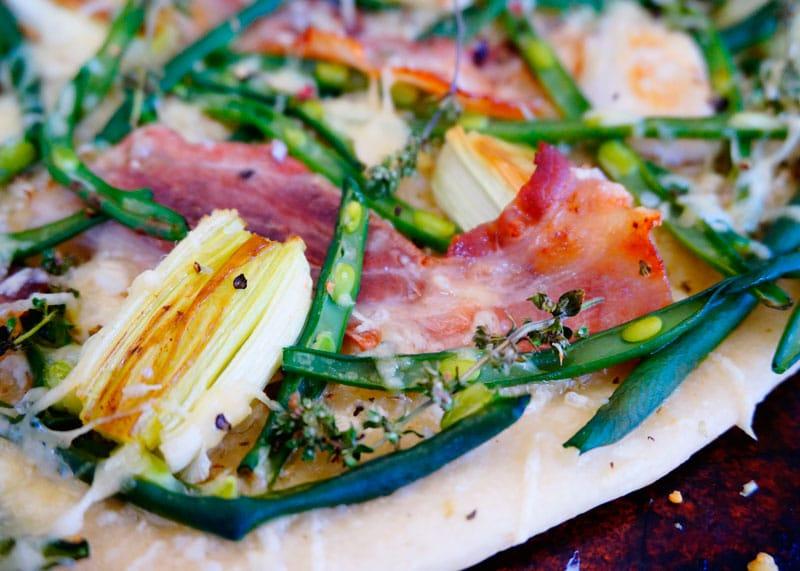 Деревенская пицца с зеленой фасолью рецепт фото