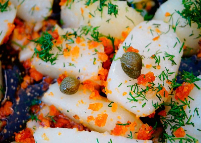 Картофель с боттаргой фото