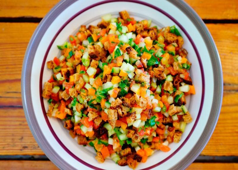 Крошанина из свежих овощей рецепт фото