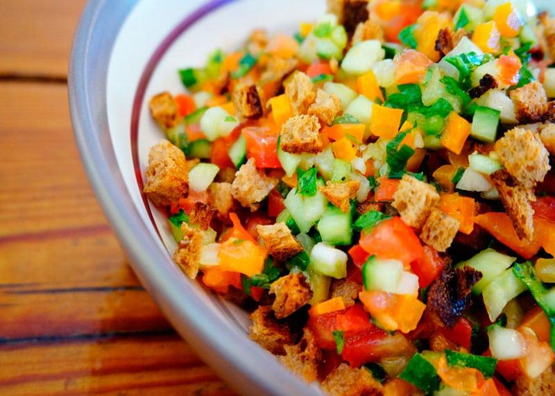Крошанина из свежих овощей фото