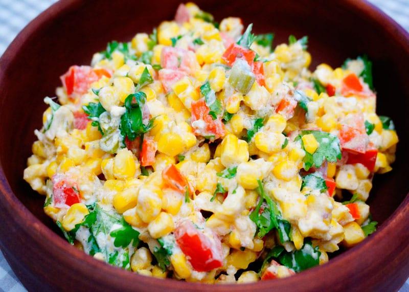 Кукуруза с сыром и кинзой приготовление фото