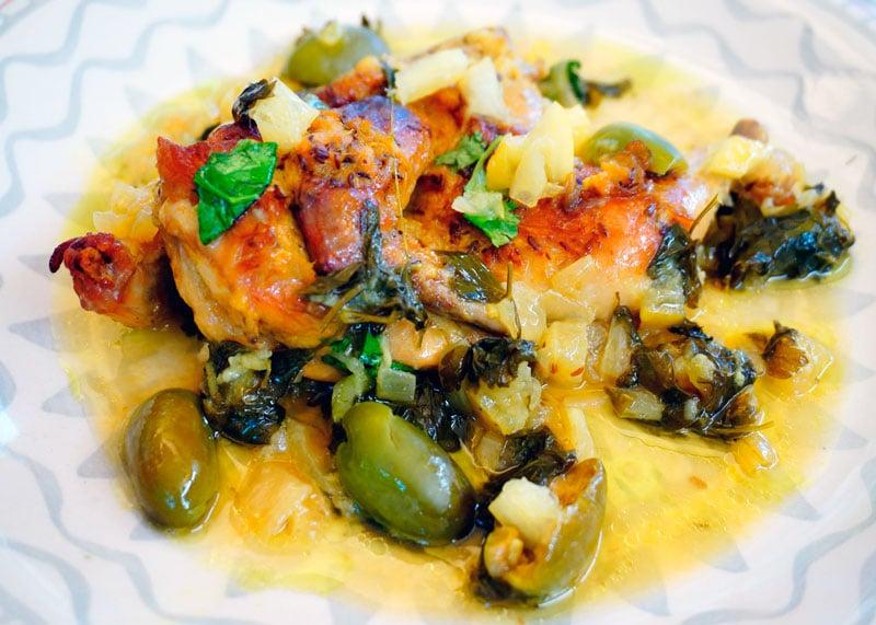 Курица по-мароккански с чесноком приготовление фото