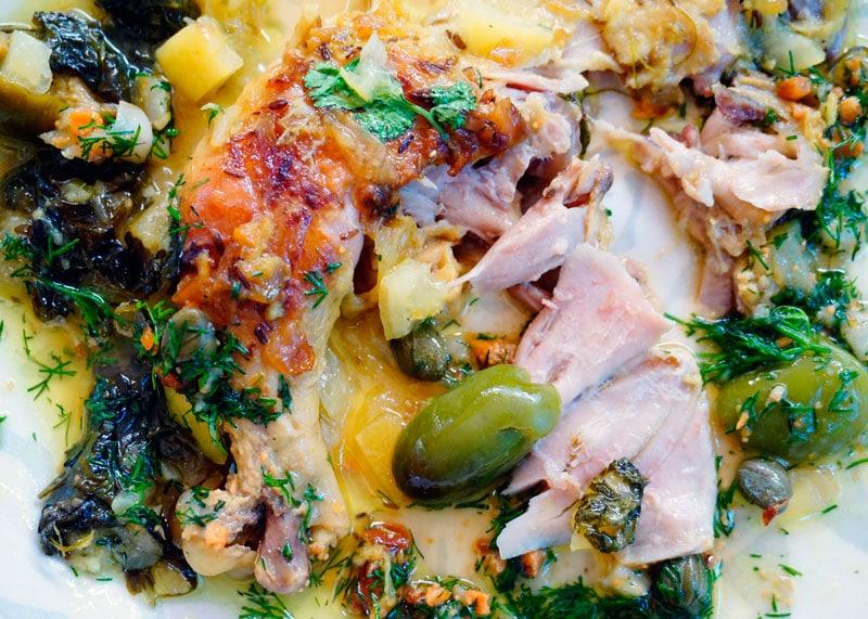 Курица по-мароккански с чесноком фото