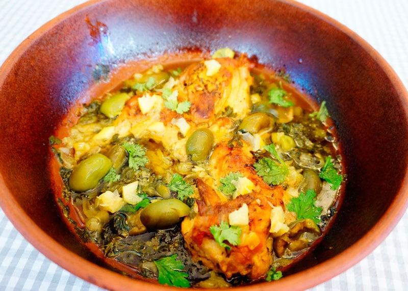 Курица по-мароккански с чесноком рецепт фото