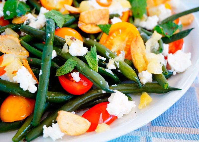 Салат из зеленой фасоли и маринованных лимонов рецепт фото