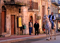Деревенская улица Сицилия фото