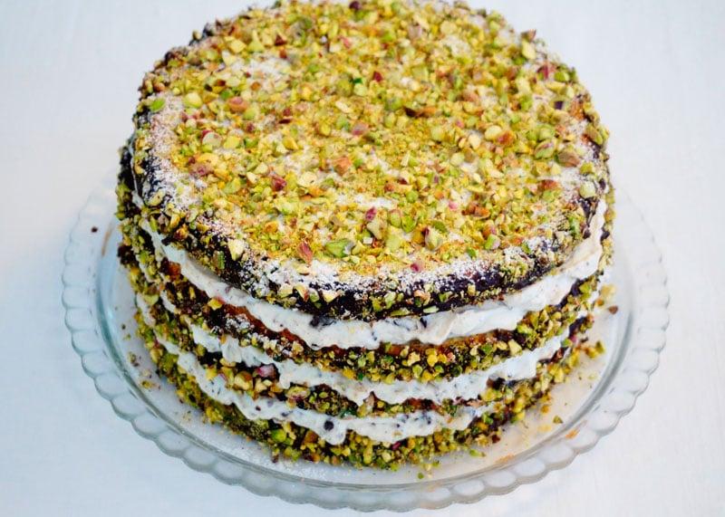 Фисташковый торт канолли фото