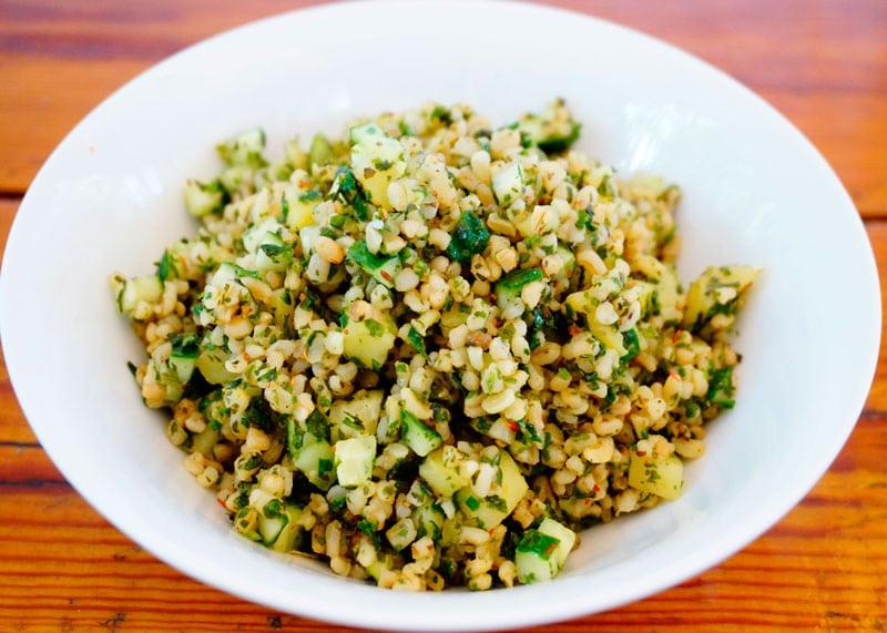 Холодный салат из булгура рецепт фото