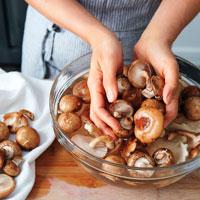 Мойка грибов фото