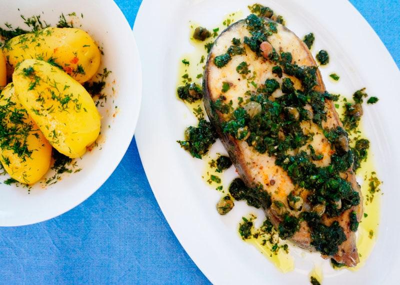 Рыба в соусе мюньер приготовление фото