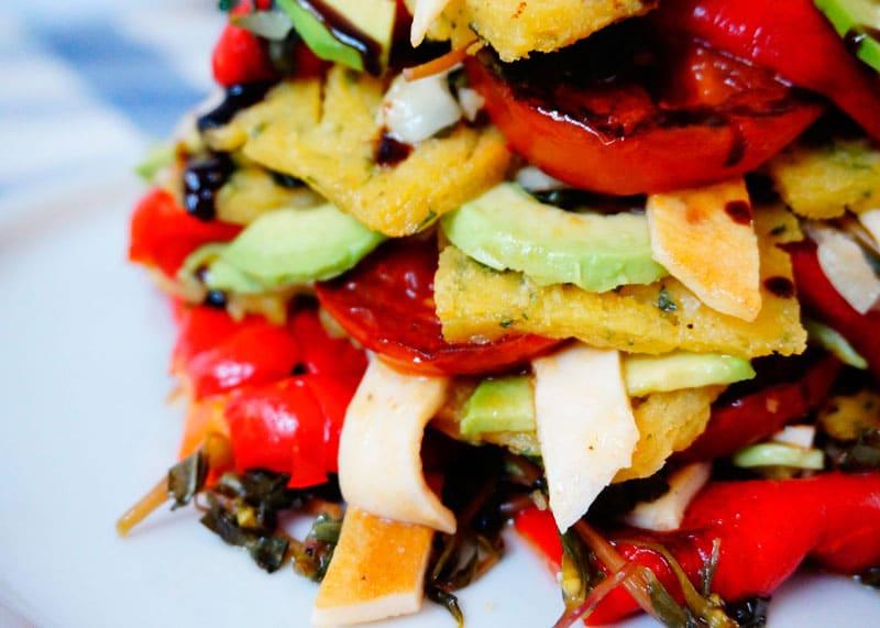Салат из перцев с панелле фото