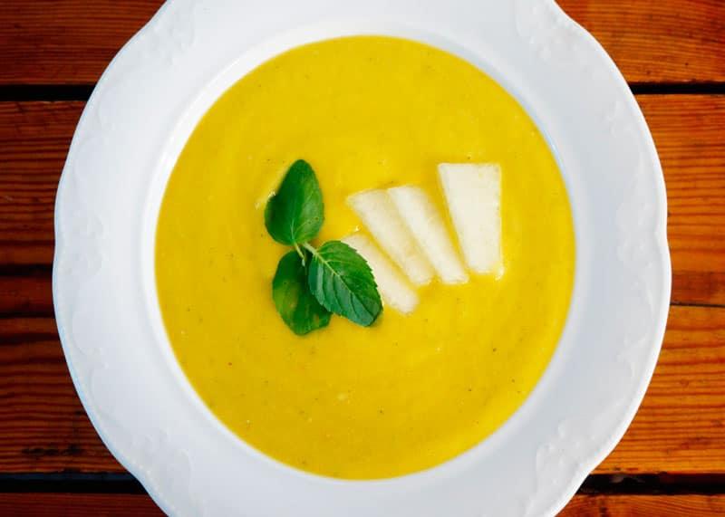 Суп пюре из дыни рецепт фото