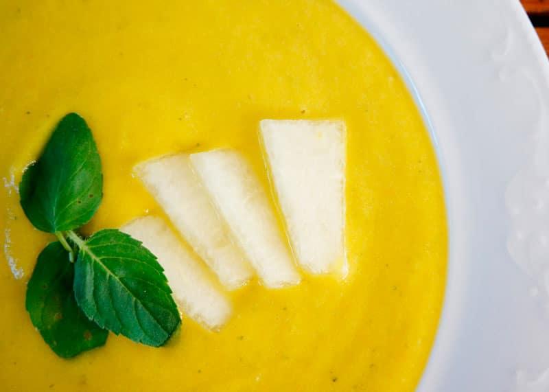 Суп пюре из дыни фото