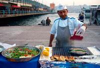 Торговец едой фото