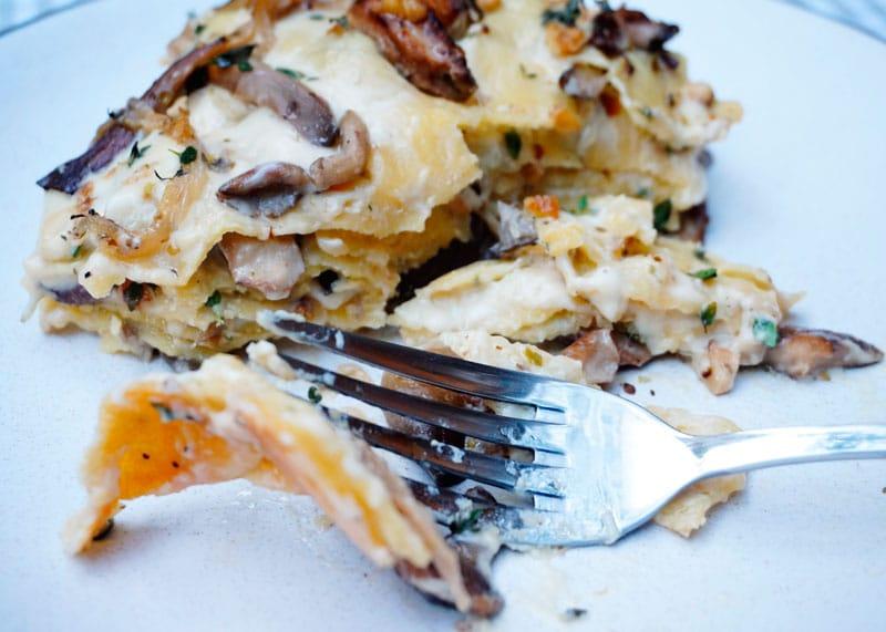 Лазанья с грибами рецепт фото