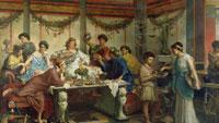 Обед в Древнем Риме фото