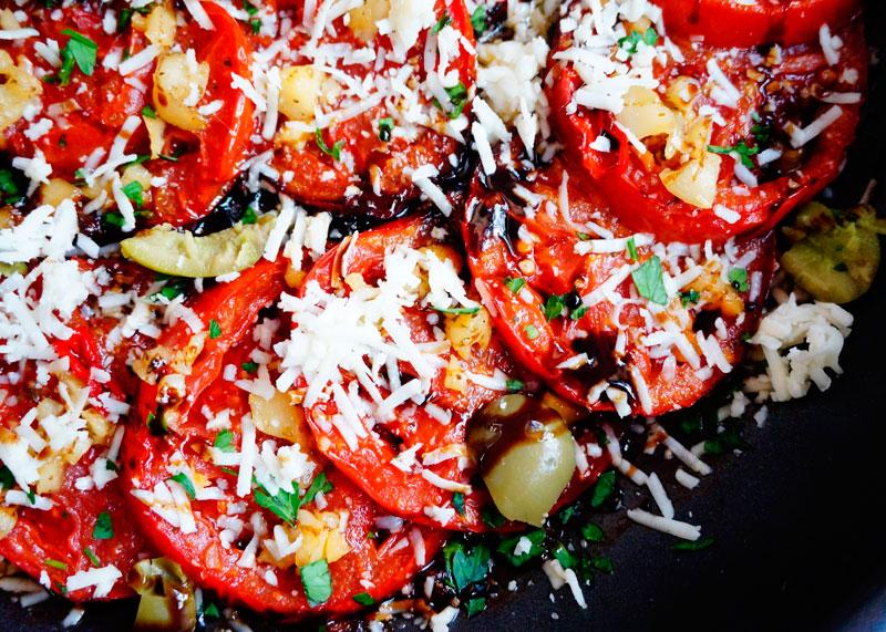 Тушеные помидоры рецепт фото
