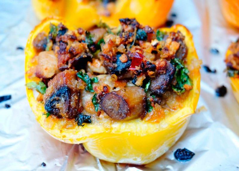 Закуска из сладких перцев с белыми грибами приготовление фото