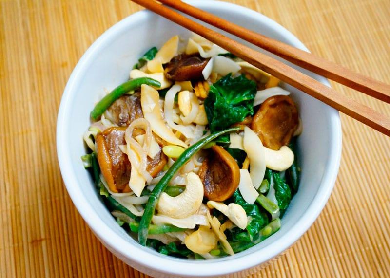 Рисовая лапша с зеленой фасолью приготовление фото