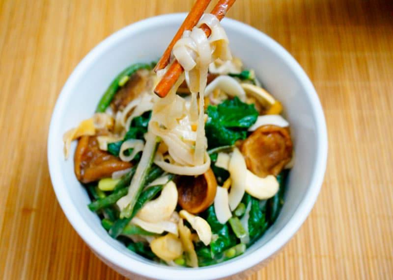 Рисовая лапша с зеленой фасолью рецепт фото
