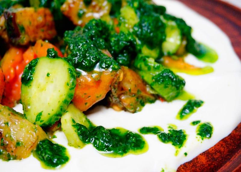 Салат из жаренных баклажанов фото