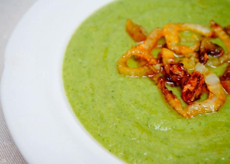 Суп пюре из зеленой фасоли и фенхеля рецепт фото