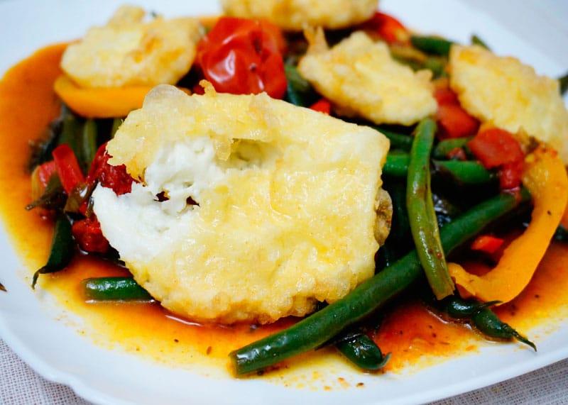 Зеленая фасоль в имбирно-мятном соусе рецепт фото
