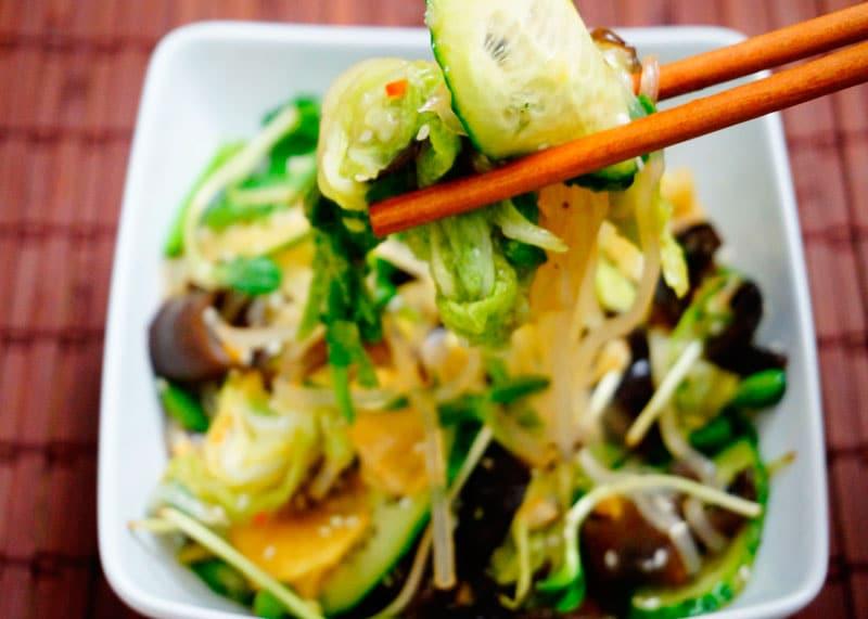 Салат из древесных грибов рецепт фото
