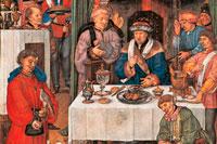 Средневековый обед фото
