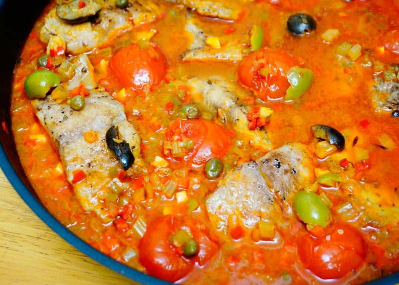 Рыба под неаполитанским соусом приготовление фото
