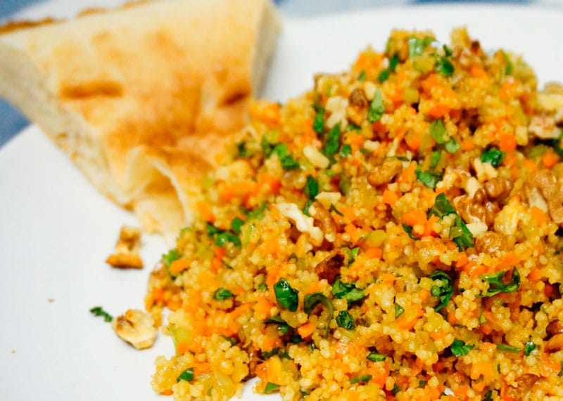 Салат из кус-куса и моркови фото