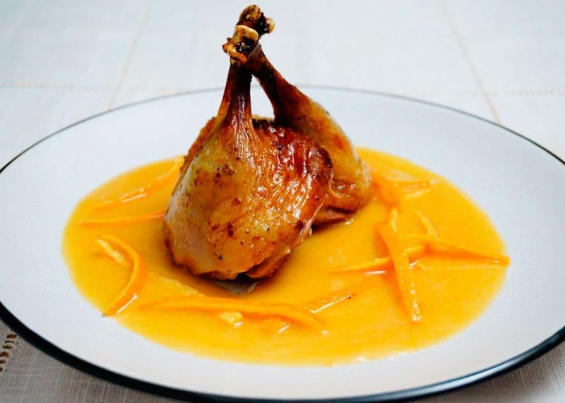 Утка в апельсиновом соусе приготовление фото