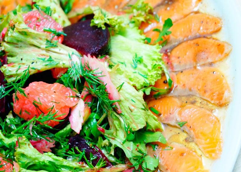Карпаччо из лосося со свеклой рецепт фото
