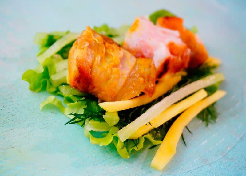 Рисовые блинчики с рыбой фото