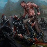 Викинг в сражении фото