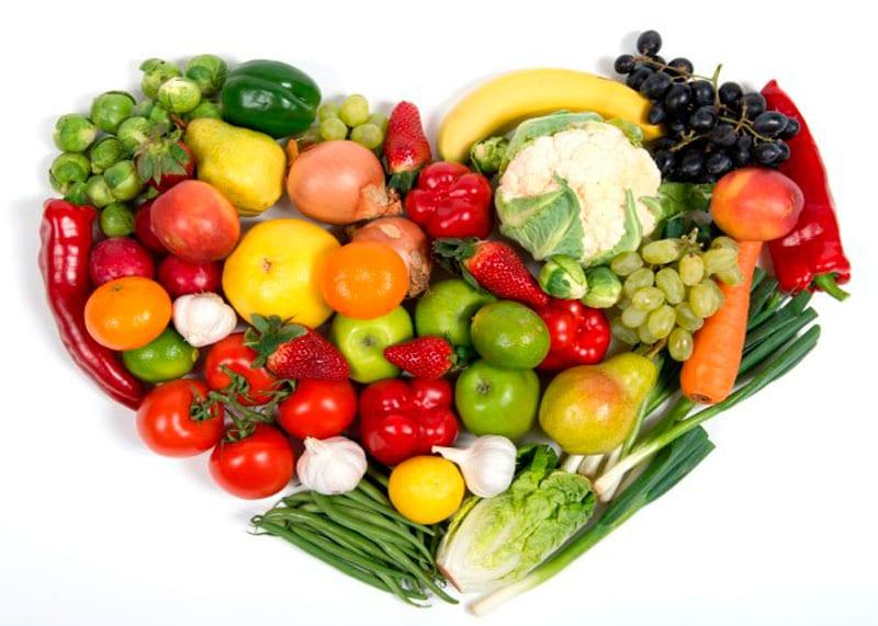 Сердце из овощей фото
