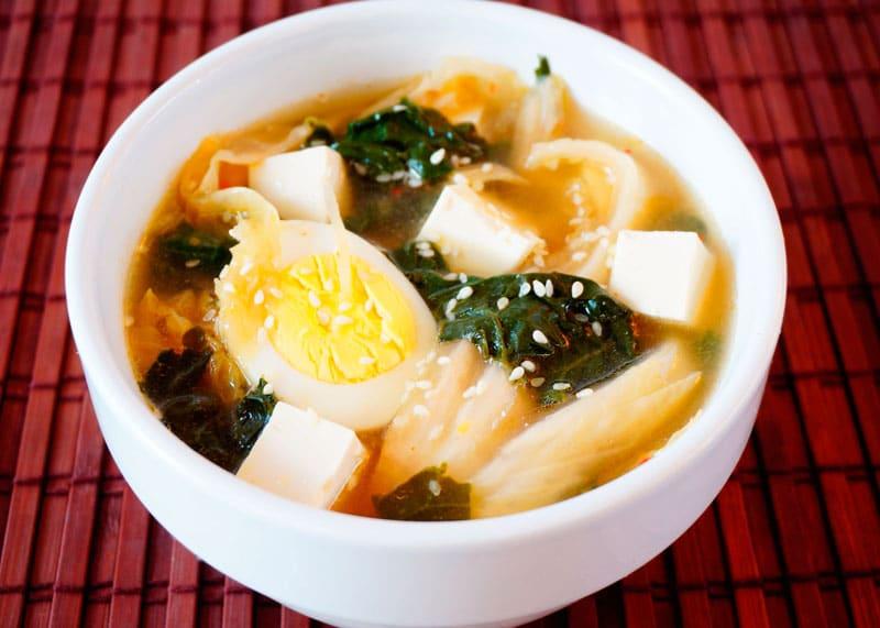 Мисо суп с кимчи рецепт фото