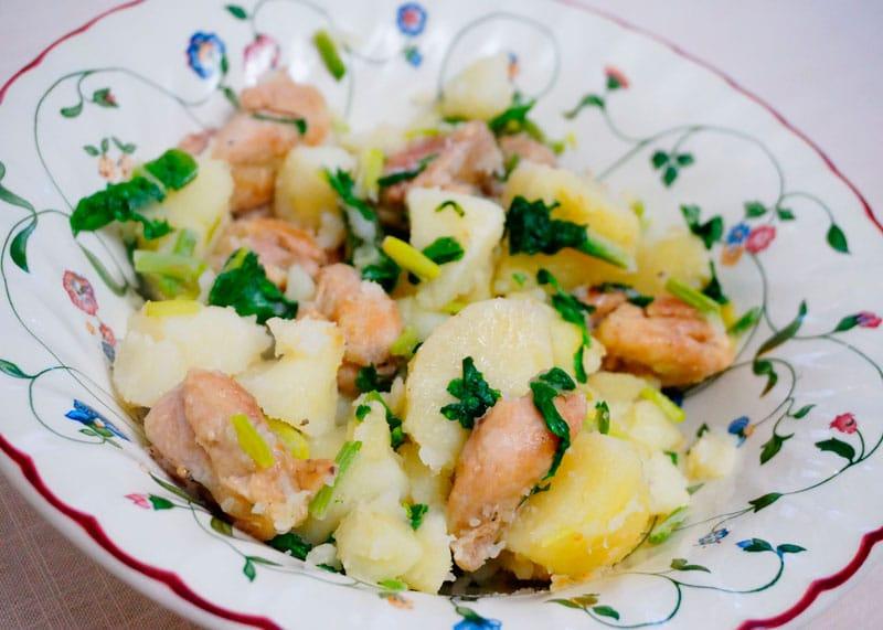 Теплый куриный салат с курицей приготовление фото