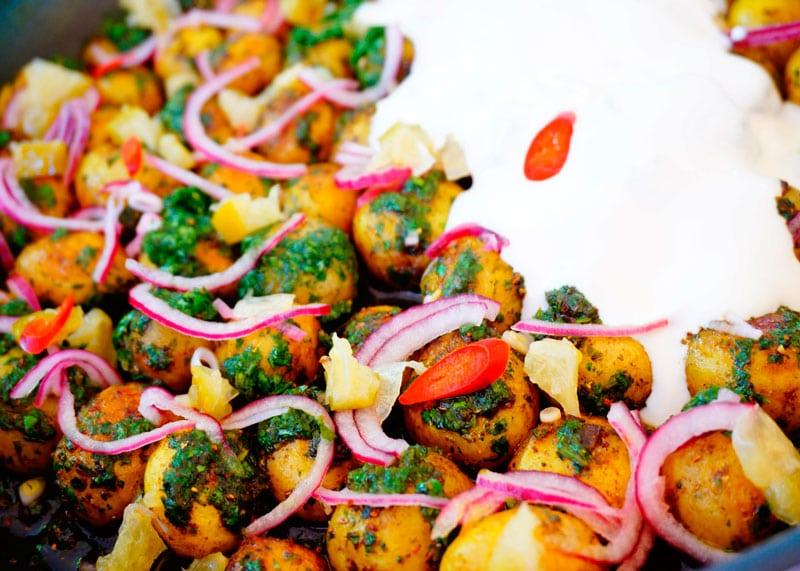 Картофель с гарам масалой рецепт фото