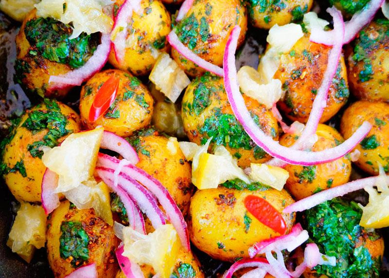 Картофель с гарам масалой фото